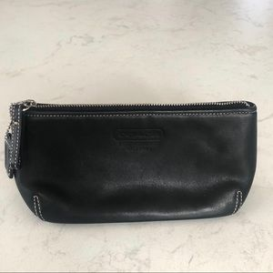 Coach | black leather case